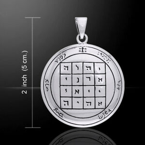 First Pentacle of SATURN 3.8cm SEALS of SOLOMON Pendant.925 silver - Peter Stone