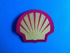 Rare 1990's Shell Oil F-1 Racing Sponsor Hat Jacket Racing Gear Patch Crest B