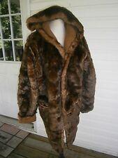 Warm Fancy Jones New York Red Brown Faux Fur Coat Sz S Hoody Reversible