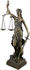 Goddess of Justice Themis Lady Justica Statue Sculpture Figur Bronze Finish 50cm