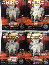 New 4 Sex Pill Rhino 11 Performance Male Enhancement 30000 Platinum & Free Gifts