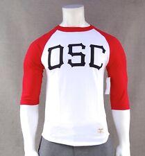 New Diamond Supply Co. Top DSC White Red Mens T Shirt 3/4 Raglan RDAM-227