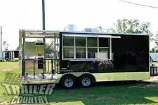 New 8.5 X 22 Enclosed Mobile Kitchen Food Vending Concession Bbq Smoker Trailer