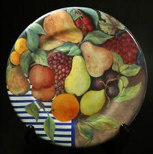 """Set of 4 Gien La Ronde Des Fruits 8 5/8"""" Salad Plates France"""