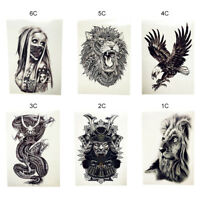 2PCS Africa Serengeti Lion Temporary Tattoo Body Arm Art Stickers Waterproof US