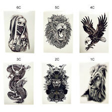 1 PC High Quality Africa Serengeti Lion Temporary Tattoo Waterproof Flash New