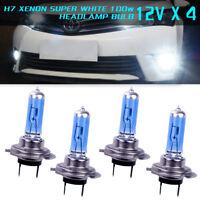1-8X H7 100W 6000K Halogen HID White Effect Look Headlight Lamps Bulbs HMDUO
