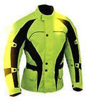 Men Motorrad Schwarz Gelb Jacke Textil Gepanzerte Wasserdichte Rad Gratis