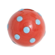 Bombay Duck Red with Blue Spots Opaque Glass Drawer Cupboard Door Knob 3cm Dia