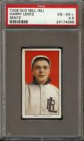 Rare 1909-11 T206 Harry Lentz Sentz Old Mill SL Little Rock PSA 4.5 VG - EX +