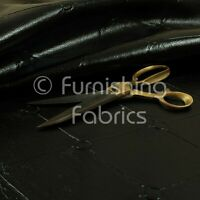 Chesterfield Design Gloss Black Faux Leather Upholstery Furniture Seating Fabric