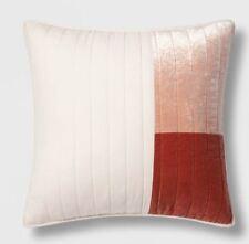 Project 62 + Nate Berkus Coral Patchwork Velvet Sham, Standard