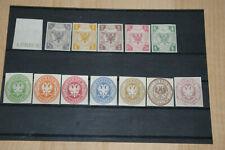 Altdeutschland *Lübeck 1859  Mi 1-5 + 8-14* postfrisch + geschnitten  /ND 1978