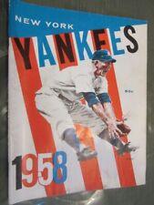 1958 New York YANKEES YEARBOOK - Jay Pub. Mantle, Berra, Rizzuto, Martin, EX.