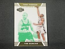 Tim Duncan Tony Parker 2007-08 Topps Co Signers Changing Faces Green (20/59) #21