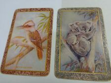 PAIR OF SWAP PLAYING CARDS  , AUSTRALIAN ANIMALS