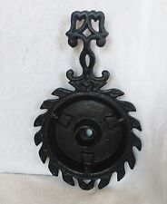 Cast Iron  Candle Holder Black Vintage With Feet