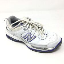 Women's New Balance 608 Shoes Sneakers Size 8B Tennis Walking White Purple P11