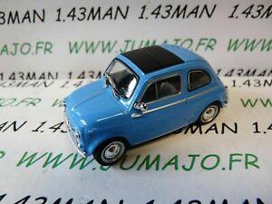PL43 VOITURE 1/43 IXO IST déagostini POLOGNE : FIAT 500 bleu 1960/1965