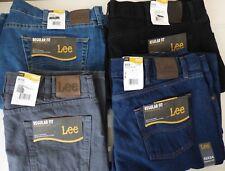 Lee Regular Fit Straight Leg Jeans -  Mens Size W30 - W60