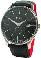 Ruhla Classic Made in Germany Herrenuhr Edelstahl Datum schwarz mens watch 42mm