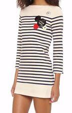 Marc Jacobs Breton Stripe dress New Prussian blue XS