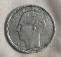 1930 Belgium 20 Francs Silver