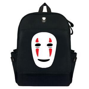 Spirited Away Noface High Quality Canvas Bag Rucksack Satchel Anime Backpack