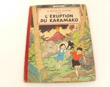 BD Jo, Zette et Jocko L'éruption du Karamako 1952 4ème plat B6 Hergé Casterman
