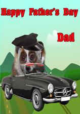 Lento Loris nfd225 chofer conductor Divertido Lindo Día del Padre Tarjeta de felicitación