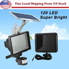120 LED Solar Powered Motion Sensor Wall Lamp Garden Spot Light Security Outdoor