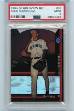 1994 SP HOLOVIEW RED #33 ALEX RODRIGUEZ ROOKIE CARD (RC) MARINERS, PSA 9 MINT