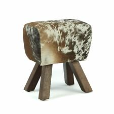Cowhide leather Bench Stool Seat Pommel Horse foot rest