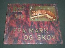 1930'S RICH'S SERIE FRA MARK OG SKOV ANIMAL TOBACCO CARDS ALBUM DANISH - KD 3185