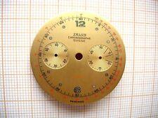 Cadran montre watch chronographe dial landeron 48 148 248 Ø 34 mm Zelus n40