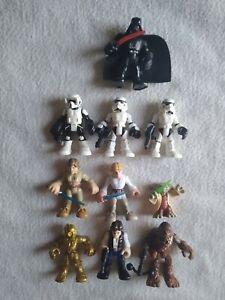 Playskool Star Wars Galactic Heroes lot, Yoda, Vader, Han, Luke, Droid, troopers
