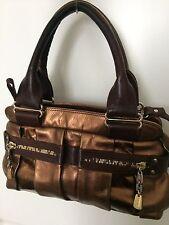 See by Chloe leather daytripper handbag brown bronze with shoulder strap