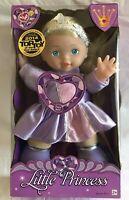 "Lovee Little Princess 12"" Talking Doll #74112 Blonde Purple Dress Ages 2+ NEW"