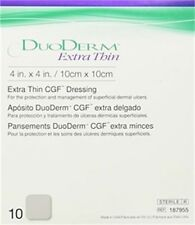 "DuoDerm Extra Thin Dressing 4"" L x 4"" W Size, Adhesive - Box/10"
