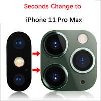 Lens Sticker For iPhone X Xr XS MAX Camera Cover Seconds Change to iPhone 11 Pro