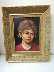 Oil On Canvas Framed REPRODUCTION Painting By Mayer - 37cm X 44cm - Antique Look