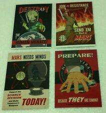 "2013 Topps/Mars Attacks Invasion ""JOIN THE FIGHT"" 4pk insert set complete NM/VF"