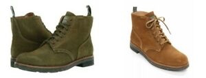Polo Ralph Lauren Men Army Roughout Suede Fashion Boots Hunt Green, Polo Snuff