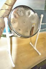 Steel Drum with Sticks and Stand - Chrome Plated!! Free DVD & song booklet!