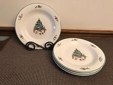 "Salem China Co. ""WHIMSICAL CHRISTMAS"" ~ Set of 4 ~ Salad Plates ~ 8 1/4"""