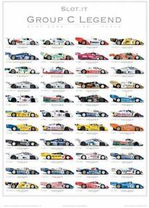 Slot.it PGRC-2 - 1:32 scale slot car Group C Legend poster - printed 2019