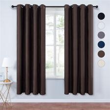 "2 Pcs Grommet Blackout Thermal Livingroom Window Curtain Drapes 52""W 44""63""84""L"