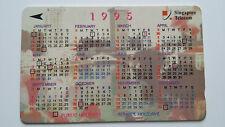 SINGAPORE PHONE CARD CALENDAR 1995