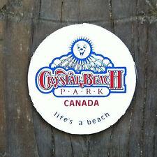 3 Original CRYSTAL BEACH Amusement Park Round Magnet 1980s NOS Unused
