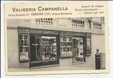SENSAZIONALE CARTOLINA D' EPOCA VALIGERIA CAMPANELLA DI GENOVA  PIAZZA MERIDIANA